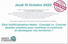 15/10/2020 Webinaire Zéro Artificialisation Nette : Concept vs. Concret